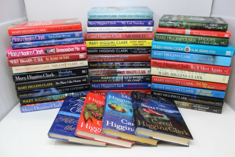 Lot of 5 Mary Higgins Clark Suspense Hardcover Books MIX