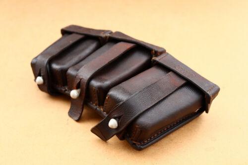 WW2 Era German Leather Cartridge Ammo Pouch Gustav Reinhardt Berlin Dated 1938