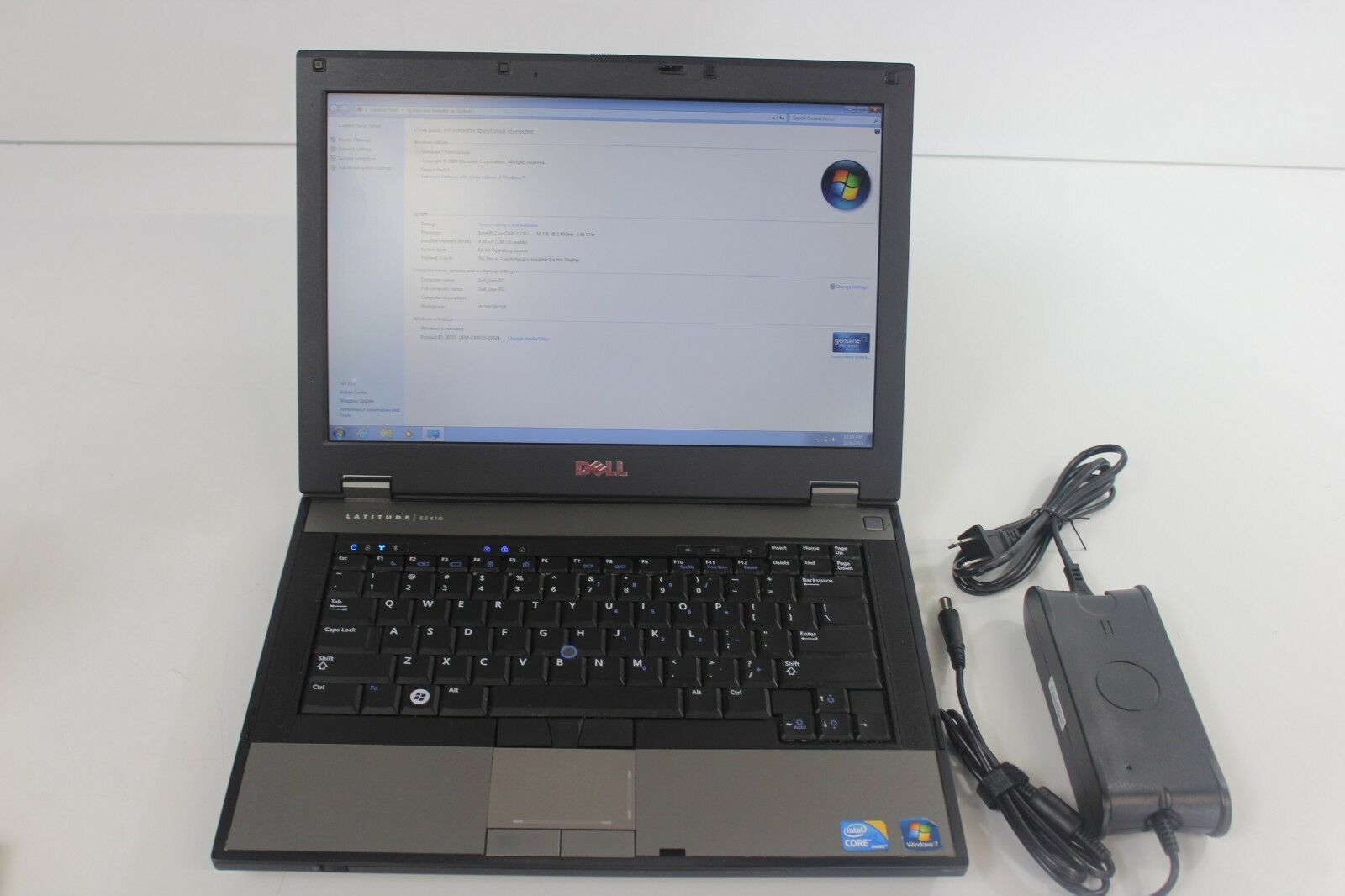 Dell Latitude E5410 Laptop Intel Core i3 CPU M370 @ 2.40 GHz 4GB RAM 250GB HDD