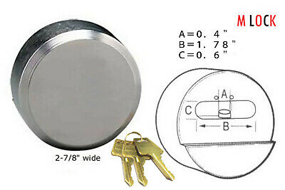 Hidden Shackle Hockey Puck Padlock 3 Keys Van Trailer Door Lock 2-78 73m Ka