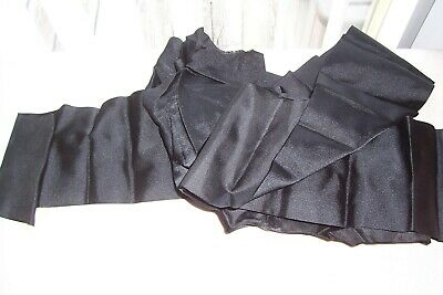 """antique french victorian coffee brown-black moire ribbon 5 yards  x  7//16/"""""""