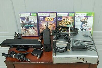 Microsoft Xbox 360 S Halo Reach Silver Console 250GB Model 1439 w/Kinect Games
