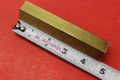 1 C360 Brass Hex Bar 4-12 Long New Lathe Bar Stock 1.0 Flat To Flat 12 Hard