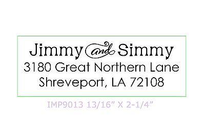 Custom Decorative Return Address 3 Line Self-inking Rubber Stamp Cosco P40