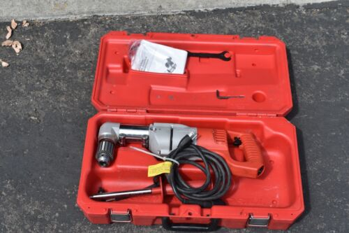 Milwaukee 1107-1 Heavy Duty Right Angle Corded Drill Kit, 120 V, 7 A
