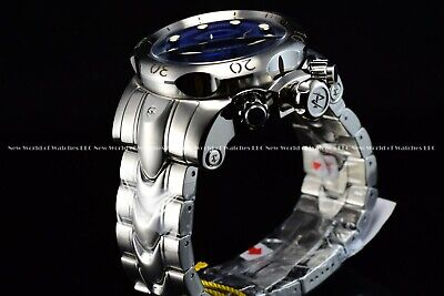 "Invicta Men 54mm Reserve Venom Viper ""King Cobra"" Swiss Mvt Blue Silver Watch"