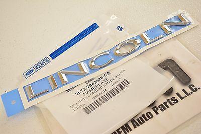 (2003-2012 Lincoln Navigator Chrome LINCOLN Liftgate REAR nameplate emblem OEM)