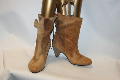 New Ladies Brown New Look Limited Edition Leather Boots Size 42 Uk 8