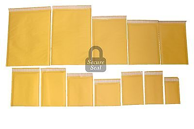 1-3000 Kraft Bubble Mailers 0000 - 7 Self Sealing Full Line Available