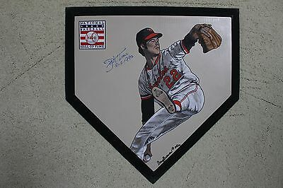 Jim Palmer Baltimore Orioles HOF Hand Painted Signed MLB Schutt Home plate