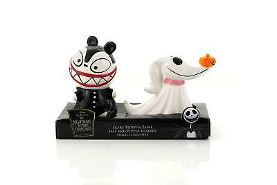 Nightmare Before Christmas Scary Teddy & Zero Ceramic Salt & Pepper (Nightmare Before Christmas Salt And Pepper Shakers)
