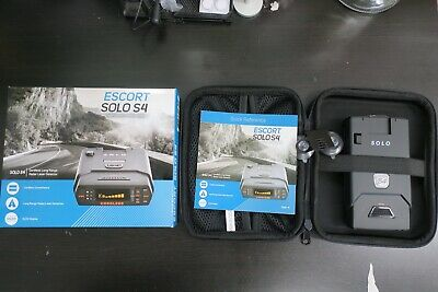 ESCORT SOLO S4 CORDLESS OLED DISPLAY LONG RANGE LASER RADAR DETECTOR