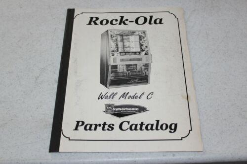 """ROCK-OLA Wall Model """"C""""  Parts Catalog - used"""
