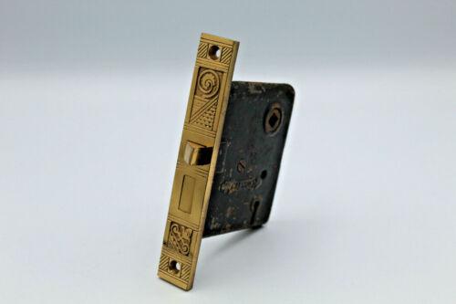 VTG Antique Ornate Brass Door Lock Mortise Nashua Marine Nautical ?