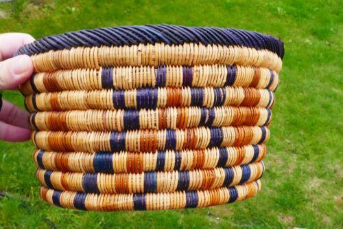 Vintage Native Navajo Hand Woven Polychrome Geometric Basket