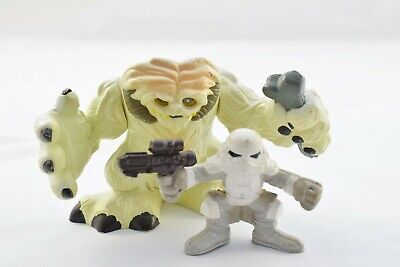 Star Wars Galactic Heroes WAMPA with HOTH SNOW TROOPER set!