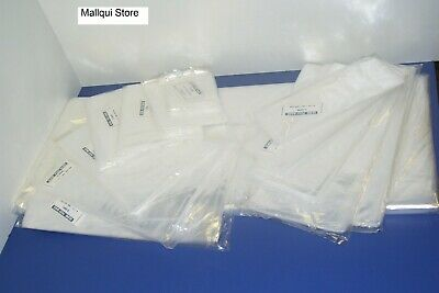 100 CLEAR 10 x 24 POLY BAGS PLASTIC LAY FLAT OPEN TOP PACKING ULINE BEST 1 MIL