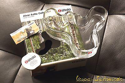 Iittala ALVAR AALTO Collection Glas Schale Bowl - Klar - 136 x 40mm - NEU 004486