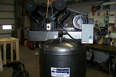 Air Max Air Compressor 7.5 Hp 1 Ph. Two Stage Cast Iron 120 Gallon Quiet Air