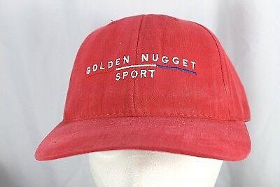 475bf886 Golden Nugget Sport Las Vegas Red Baseball Cap Adjustable Back M/L
