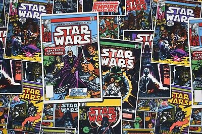 Star Wars Comic Book Design Cotton Fabric (45 x 55cm)