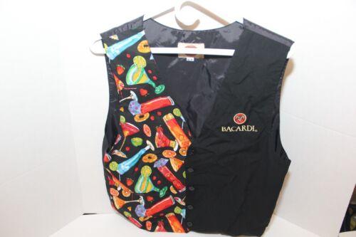 Bacardi Bartender Server Vest Size Adult Med