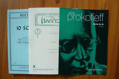 1 kg Noten - Violine/Geige - Notenpaket - Mängelexemplare