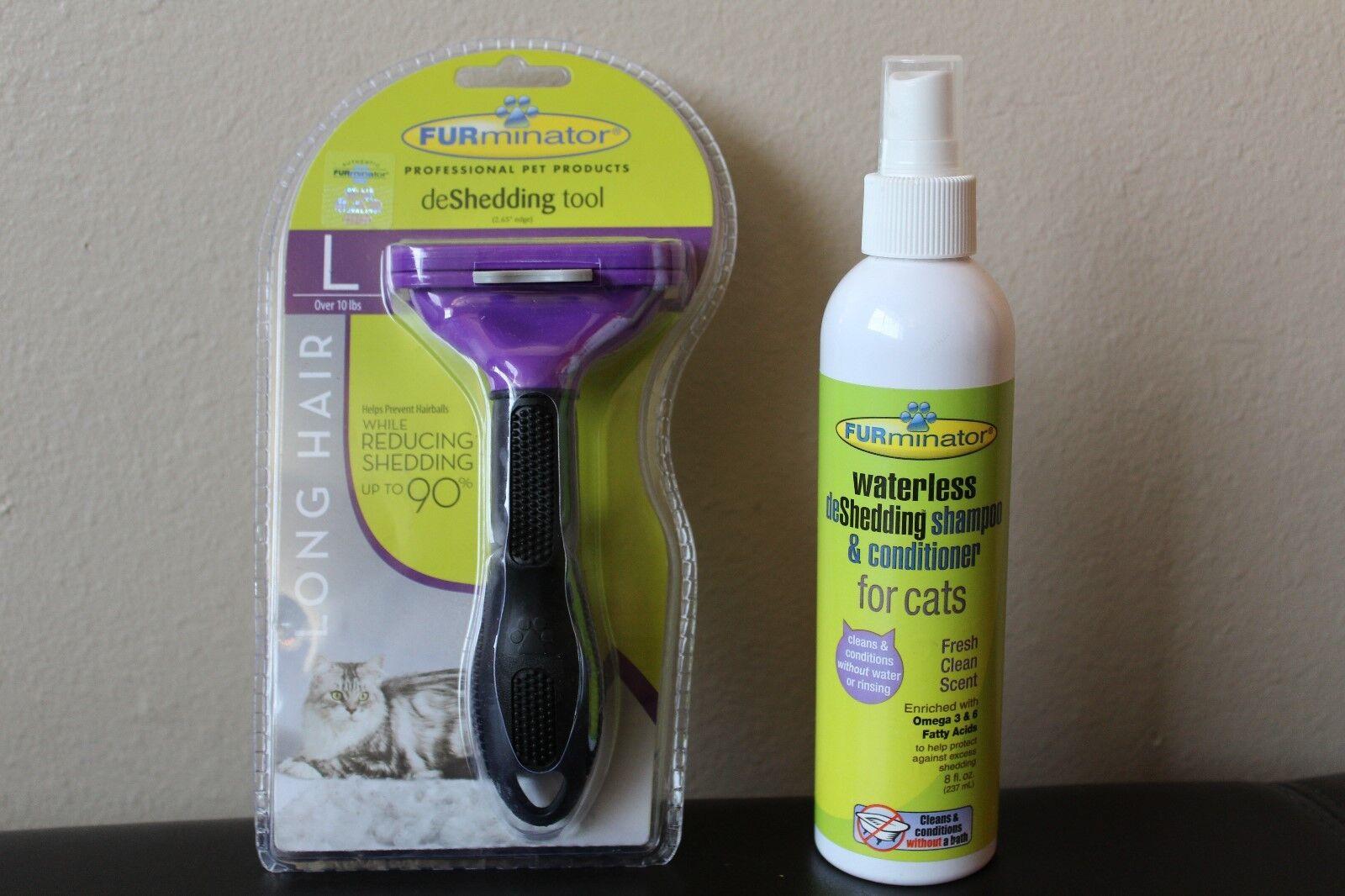 Furminator Deshedding Tool Large Cats Long Fur Comb Brush, S