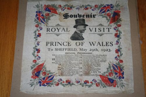 RARE Serviette SOUVENIR Prince of Wales ROYAL VISIT TO SHEFFIELD 5/29/23 Edward
