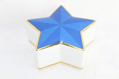 Tiffany & Company Decorative Porcelain Blue and Gold Star Trinket Box Japan