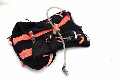 Nathan  Vaporairess Hydration Pack Running Vest W  2L Bladder Black Fusion Coral