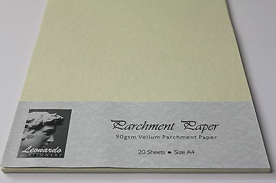 PREMIUM QUALITY 90gsm PARCHMENT PAPER/CRAFT. A5, A4, A3 AVAILABLE. AGED VELLUM.
