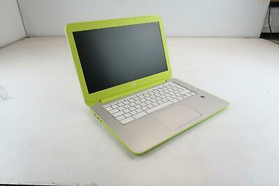 "HP ChromeBook 14-X004NA 14""  - Green/ White - ! Battery Fault !"