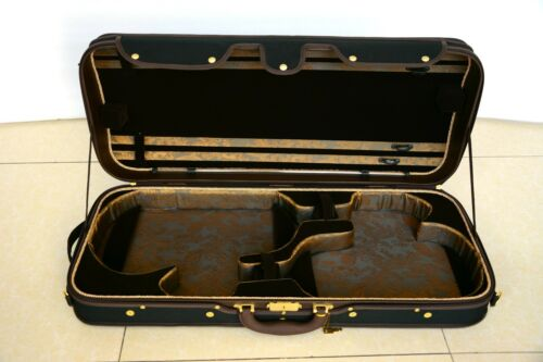 Top Quality Wooden Structure Viola&Violin Case  Black Exterior