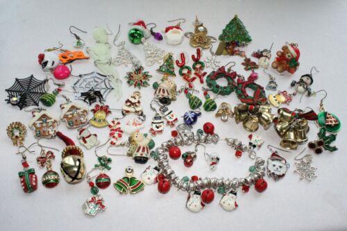 Vintage Now Holiday Single Earring Pair Craft Art Christmas Halloween  56 pcs