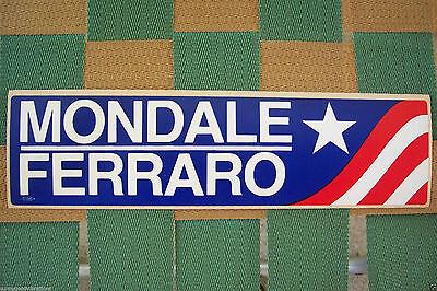 DEMOCRAT DEMOCRATIC PARTY WALTER MONDALE GERALDINE FERRARO BUMPER STICKER