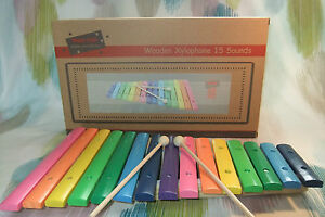 Kaper Kidz Children's Large Wooden 15 toned Xylophone Musical Instrument Toy!