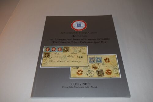 224 Corinphila Stamp Auction Romania May 2018 Catalogue Philatelic Collecting