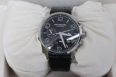 Montblanc Chronograph Automatic Meisterstuck Timewalker Black Dial Ref 7069