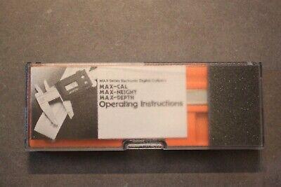 Fowler Nsk Max-cal 6 Electronic Digital Lcd Caliper Wcase New Batteries