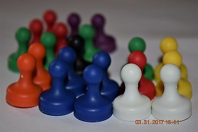 Bravo Magnetics    30Pcs Of  Multi Colored Stronger Pawn Style Magnetic Pins