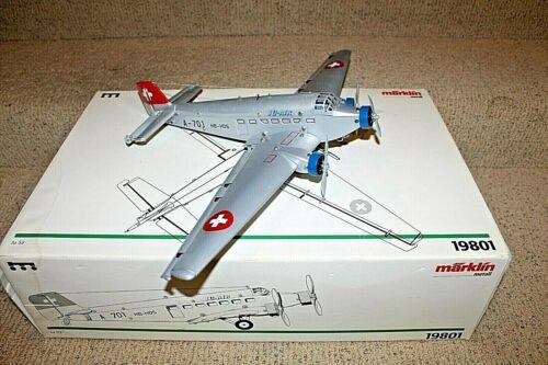 Marklin 19801 Clockwork Junkers Swiss Ju 52 Windup Airplane Boxed