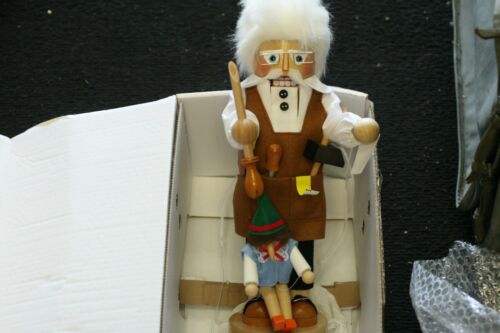 Steinbach Gepetto and Pinocchio 17 inch German Nutcracker