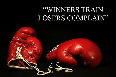 BOXING INSPIRATIONAL / MOTIVATIONAL QUOTE POSTER / PRINT / PICTURE FANTASTIC (12