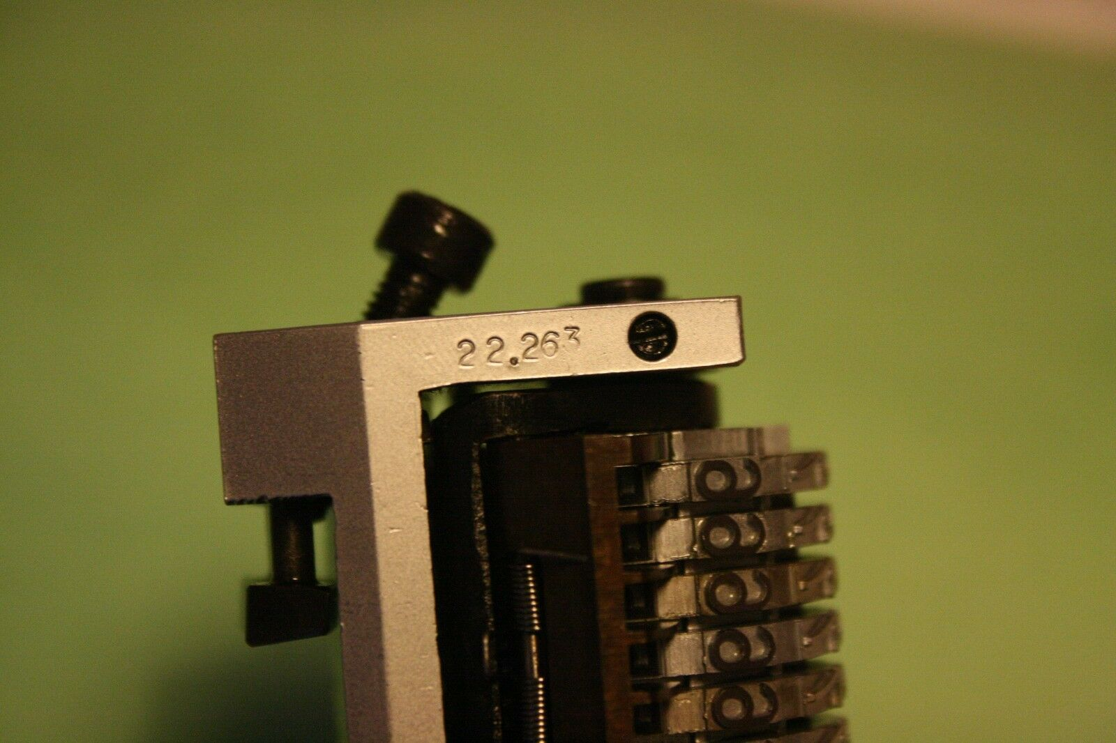 """7 digit New 3//16/"""" Rotary Straight Backwards Numbering Machine for Morgana"""