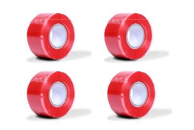 4pcs Silicone Tape Self Fusing Plumber Electrition Pipe Repair Hose Leak Fix Red