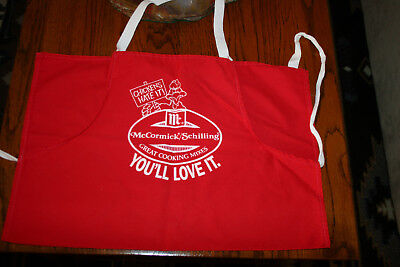 Vintage New Sponsored Advertising Cotton BBQ Apron McCormick Schilling Spice