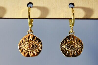 Gold Earrings Stainless steel coins