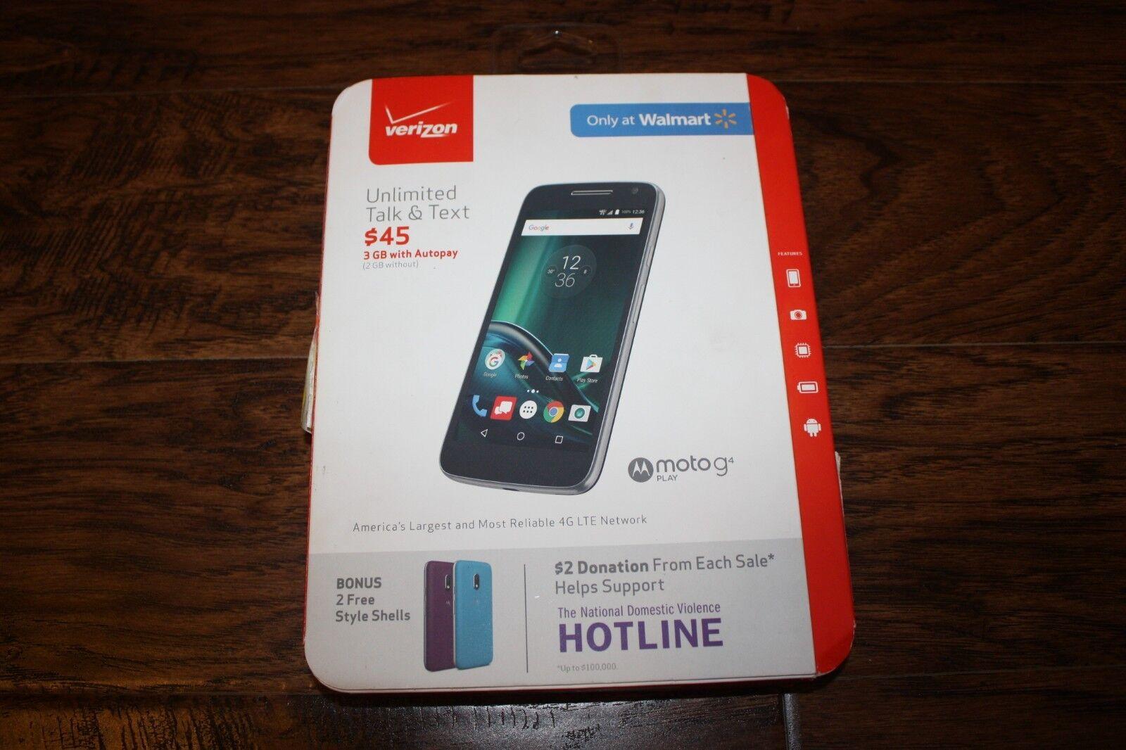 Verizon Prepaid Motorola Moto G G4 Play 4th Gen XT1609 4G