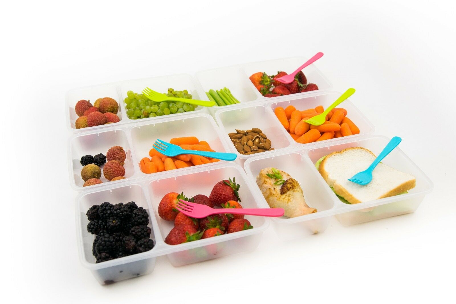 6-Pack Meal Prep Lunch Box Food Containers Set + Free Forks!!! 4